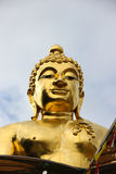 The giant statue of Buddha. In golden triangle thailand Royalty Free Stock Images
