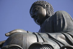 The giant statue of Buddha in Hong Kong Royalty Free Stock Images