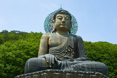 Giant statue of Buddha in the Sinheungsa Temple in Seoraksan. National Park, South korea Stock Images