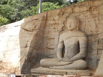 Giant statue of Buddha. Sri Lanka royalty free stock images