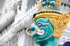 Giant Statue in Buddhist temple Royalty Free Stock Photo
