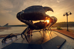 The giant statue crab in thailand. Giant statue crab in thailand.it is landmark of Krabi Royalty Free Stock Photo