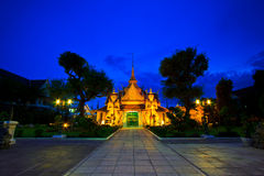 Giant statue at the door of the temple in Thailand Stock Photography