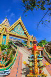Giant statue and entrance gate of temple, Phuket Royalty Free Stock Photos