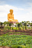 Giant statue of famous thai monk Stock Photo