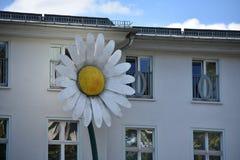 Flower Statue in Friedrichshain, Berlin royalty free stock photos