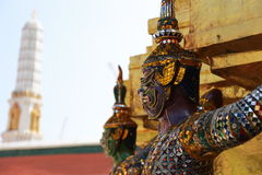 Giant statue. Giant guard  statue of Thai temple Stock Photos