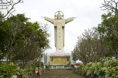 Giant statue of Jesus Christ on Mount Nyo, Vung Tau, Vietnam Royalty Free Stock Photos