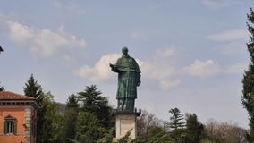 Giant statue landmark , Italy stock footage