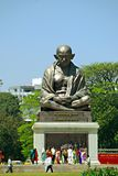 Giant statue of Mahatma Gandhi. In Bengaluru, capital of the state of Karnataka is, next to the Vidhana Soudha, a giant statue of Mahatma Gandhi to be found Royalty Free Stock Photos