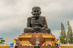 Giant statue of the monk Luang Phor Thuad Royalty Free Stock Images