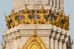 Giant statue on pagoda Stock Image