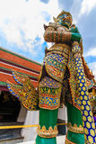 A giant statue of Ravana in vertical height. A giant statue of Ravana Temple of the Emerald Buddha in Thailand stock photo