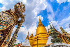 A giant statue of Ravana was watched measure. A giant statue of Ravana Temple of the Emerald Buddha in Thailand Royalty Free Stock Images