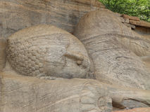 Giant statue of sleeping Buddha. Sri Lanka Royalty Free Stock Image