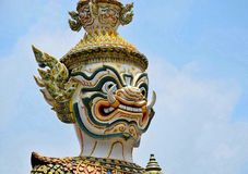 Giant statue of the Temple of the Emerald Buddha Wat Phra Kaew stock image