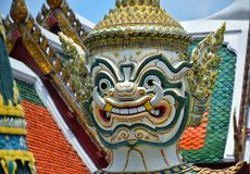 Giant statue of the Temple of the Emerald Buddha Wat Phra Kaew stock photos