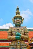 Giant statue of the Temple of the Emerald Buddha Wat Phra Kaew royalty free stock photos