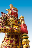 Giant statue in the temple, Generalily in Thailand, any kind of art decorated in Buddhist church. They are public domain or treas Royalty Free Stock Images
