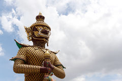 Giant Statue in Temple Royalty Free Stock Image