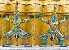 Giant statue in Thai style Royalty Free Stock Image