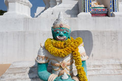 Giant statue in Thai style royalty free stock photography