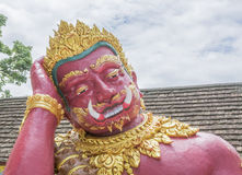 Giant statue. In Thai temple,Public statue in thailand Royalty Free Stock Photo