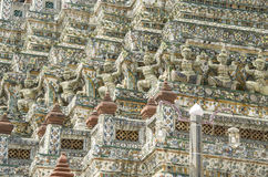 Giant statue at Wat Arun, Bangkok, Thailand Stock Photography