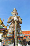 Giant Statue at Wat Phar kaew Royalty Free Stock Photo