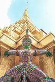 The giant statue. In Wat Phra Kaew Attractions in Thailand Royalty Free Stock Photo