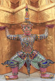 The giant statue. In Wat Phra Kaew Attractions in Thailand Stock Photos