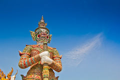 Giant statue at Wat Phra Kaew Stock Images