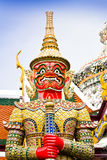 Giant statues, Bangkok, Thailand. Ancient giant sculpture of The Emerald Buddha temple in Bangkok, Thailand Royalty Free Stock Photography