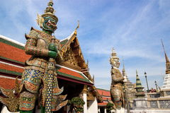 Giant Statues at the Grand Palace, Bangkok Royalty Free Stock Image