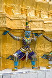 Giant Statues, at the Wat pha Kaew temple Stock Image
