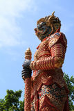 Giant statues. In wattangsai temple Royalty Free Stock Images