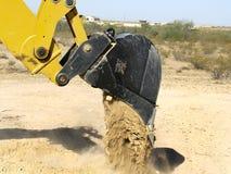 Giant Steam Shovel Releasing Dirt - Horizontal Stock Image