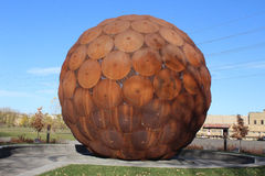 Giant Steel Ball Royalty Free Stock Image
