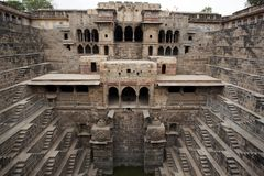 The giant step well of abhaneri Royalty Free Stock Photography