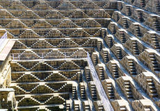 Giant stepwell of abhaneri in rajasthan, india Royalty Free Stock Image