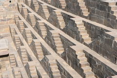 Giant stepwell of abhaneri in rajasthan,India.It was built by King Chanda of the Nikumbha Dynasty between 800 - 900AD Royalty Free Stock Images