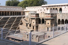 Giant stepwell of abhaneri in rajasthan,India.It was built by King Chanda of the Nikumbha Dynasty between 800 - 900AD Royalty Free Stock Photo