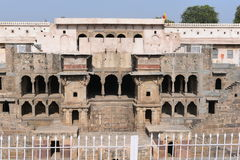 Giant stepwell of abhaneri in rajasthan, India. Royalty Free Stock Photography