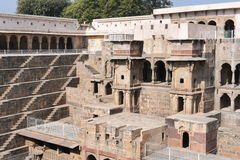 Giant stepwell of abhaneri in rajasthan, India. Royalty Free Stock Image