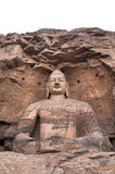 Giant stone Buddha, Yuangang Caves, Datong Royalty Free Stock Photos