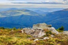 Giant stone on the edge Royalty Free Stock Image