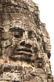 Giant stone face in Prasat Bayon Temple, Angkor Wat complex, Sie Stock Photo