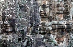 Giant stone face of Prasat Bayon temple, Cambodia Stock Photography