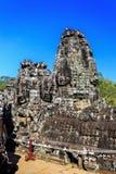Ancient Bayon temple in Angkor Thom, Siem Reap, Cambodia Royalty Free Stock Photo
