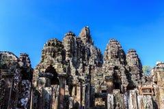 Ancient Bayon temple in Angkor Thom, Siem Reap, Cambodia Stock Photos